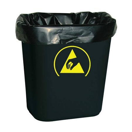 ACL Staticide™ 5076B Black Static Dissipative Trash Can Liners (24