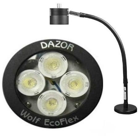 Dazor Led Fa25mm Bk Ecoflex Led Desk Light 17 Quot Reach