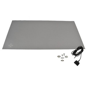 "SCS 770090 R3 Series - 2-Layer Rubber Table Mat (24"" x 48"" - Grey)"