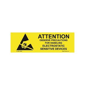 "SCS ALABEL-5/8 ""Attention"" Label (5/8"" x 2"", 1000 p/rl)"
