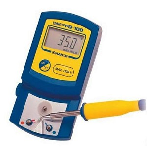 Hakko FG100-02 Tip Temperature Thermometer W/ Certificate Of Calibration (For Degrees Fahrenheit - 32-1300°)