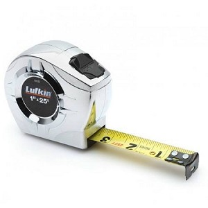 "Lufkin P2125 P2000 Series Chrome Case Tape Measure (1"" x 25', A5 Blade Style)"