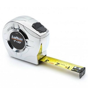 "Lufkin P2133 P2000 Series Chrome Case Tape Measure (1"" x 33', A5 Blade Style)"