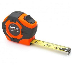 "Lufkin PHV1316 P1000 Series Hi-Viz® Orange Tape Measure (3/4"" x 16', A2 Blade Style)"