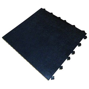 "Ergo Advantage A1-SMB Series Safety Tile System (ESD, Smooth Tile Surface, 18"" x 18"" x 1"" - Black)"
