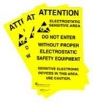 Botron B6717 Static Awareness - Adhesive Signs