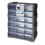Quantum PDC-18BK Plastic Drawer Cabinet (18 Drawer Cabinet)