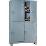 Lyon 11204D All-Welded Multi-Door Cabinet (4 Door, 1 Full Width Shelf Per Compartment, 48