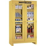 Lyon 1120SC All-Welded Clear View Safety Center Cabinet (4 Full-Width Shelves, Yellow Finish Only, 48