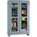 Lyon 1120V All-Welded Clear View Cabinet (4 Full-Width Shelves, 48