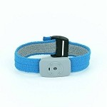 SCS 2368 Dual Conductor Wrist-Strap (Light Blue, Fabric, Wrist-Strap ONLY)