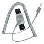 SCS 2383 Dual Conductor Wrist-Strap & Coil Cord Set (Large, Black, Metal, Wrist-Strap & 5' Coil Cord)