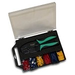 WaveRoom Plus 500-037 Terminal Crimp Kit (Ratcheting Crimper and 175 Assorted Terminals and Butt-Splices)