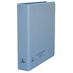 Desco 07432 ESD-Safe 3-Ring Binder (W/ Clear Pocket, 1-1/2