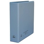 Desco 07433 ESD-Safe 3-Ring Binder (W/ Clear Pocket, 2