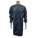 Transforming Technologies JLM62- ESD/Clean-Room Frock (Navy Blue, Polyester Fabric W/ Knit Cuffs) - XS - 5XL