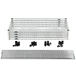 Metro EZ2436NC-4 Convenience Pak Super-Erecta® Wire Shelving - Chrome (24