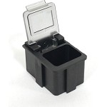 Transforming Technologies SM0880 Static-Safe SMD Storage Box w/ Transparent Lid 5/8