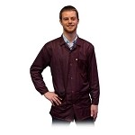 Transforming Technologies JKC90 9010 Series ESD Jacket (Lapel Collar, Maroon, 90% Poly/10% Carbon Fabric)