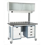 Hatfield LAB4-1 Modular Bench With Economy Cabinets (Lab Example 4 - Stainless Steel Work Surface)