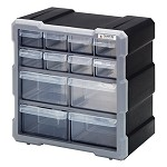Quantum PDC-12BK Plastic Drawer Cabinet (12 Drawer Cabinet)
