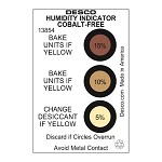 Desco 13854 Humidity Indicator Cards [Cobalt-Free, 5-10-15% (125pk)]