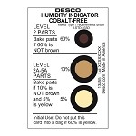 Desco 13855 Humidity Indicator Cards [Cobalt-Free, 5-10-60% (125pk)]