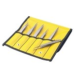 Aven 18480 TT 6 Pc. Tweezer Set (Titanium Alloy)