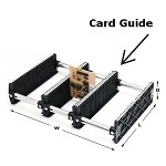 Fancort 77- Optional Card Guide (For 76 Series Karry-All Adjustable Storage Racks)