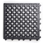 Ergo Advantage AM2 Series AntiMicrobial Safety Tile System (Black, Open Tile, 18