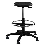 Brewer PR-3 Round Polyurethane Stool (Height Adjustment - 22.5