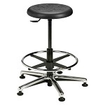 Brewer PRM-3 Round Polyurethane Stool (Height Adjustment - 22