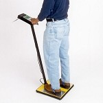 Static Solutions OHM-STAT Economy Wrist Strap/Heel Ground Tester w/ Foot-Plate (Thin, w/o holes for wall attachment)