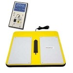 Static Solutions OHM-STAT Economy Wrist Strap/Heel Ground Tester w/ Foot-Plate (Thick, w/ holes for wall attachment) & Stand