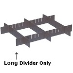 Quantum DL91050CO Conductive Grid Container Long Divider (Pkg6)
