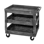 Quantum PC4026-33-3 (3-Shelf) Polymer Cart