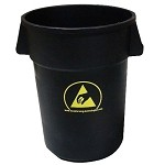 Transforming Technology WBAS180 44 Gal. ESD-Safe Trash-Can [10(4) - 10(5) ohm]