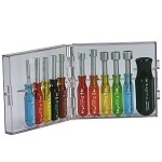 Xcelite PS120 Mini Nut Driver Set (Inch Sizes, 11-Piece)