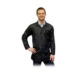 Transforming Technologies JKC90 9010 Series ESD Jacket (Lapel Collar, Black, 90% Poly/10% Carbon Fabric)