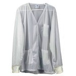 Transforming Technologies JKV88 8812 Series Lightweight ESD Jacket (V-Neck, White, Knit Cuff, 88% Poly/12% Carbon)