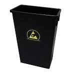 Transforming Technology WBAS90 22-Gal. ESD-Safe Trash Can [10(4) - 10(5) ohms/sq]
