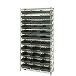 Quantum WR12-109CO Complete Wire Shelving with Conductive Bins (12