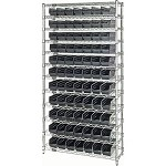 Quantum WR12-102CO Complete Wire Shelving Package with Conductive Bins (12