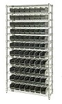 Quantum WR12-101CO Complete Wire Shelving with Conductive Bins (12
